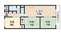 クリエイト三島[201号室]の間取り
