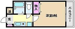 パーソナルハイツ御影2[3階]の間取り