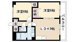 グランディアム香坂[402号室]の間取り