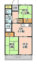 松戸レジデンス[206号室]の間取り