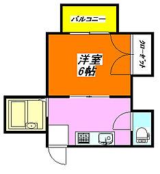 秀雅ハイツ 202号室[2階]の間取り