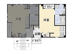 九条南 新築賃貸マンション[202号室]の間取り