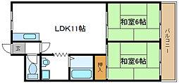 メゾンカタケ[407号室]の間取り
