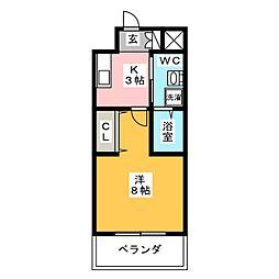 ストリクト井尻[1階]の間取り