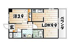 シーサイド高浜[2階]の間取り
