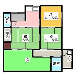 [一戸建] 愛知県名古屋市千種区自由ケ丘2丁目 の賃貸【/】の間取り