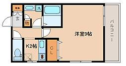 兵庫県神戸市長田区駒ケ林町1丁目の賃貸アパートの間取り