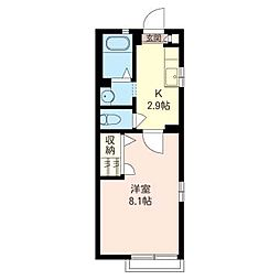 South Raum[2階]の間取り