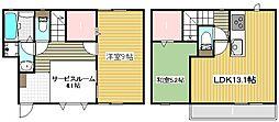 [テラスハウス] 大阪府吹田市高城町 の賃貸【/】の間取り