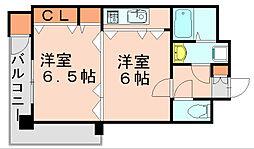 ステイツ博多駅[3階]の間取り