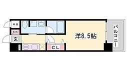 ラナップスクエア神戸ハーバープライム[5階]の間取り