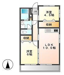 名栄ビル[2階]の間取り