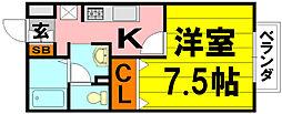 大阪府茨木市西豊川町の賃貸アパートの間取り