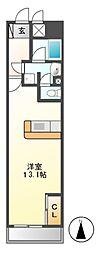 ロイジェント栄[5階]の間取り