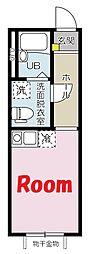 東急東横線 東白楽駅 徒歩10分の賃貸アパート 1階ワンルームの間取り