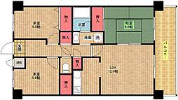 パークハイム南加賀屋[2階]の間取り