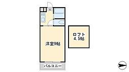 ラフェスタ篠崎[205号室]の間取り