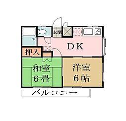 松江マンション[305号室]の間取り