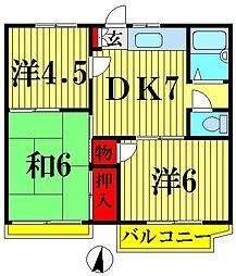 コーポ和田[203号室]の間取り