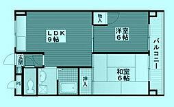 ベルガーデン[3階]の間取り