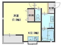 Prunus court[101号室号室]の間取り