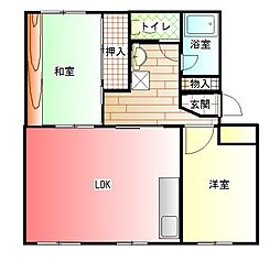 はぁーとマンション[105号室]の間取り