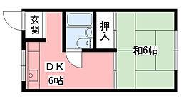 さつき荘[105号室]の間取り
