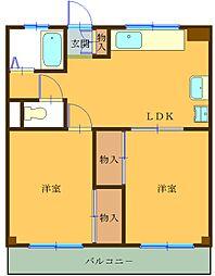 レオナマンション[102号室]の間取り