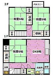 [一戸建] 広島県広島市安佐南区東野2丁目 の賃貸【/】の間取り