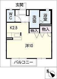 パルクレール[1階]の間取り