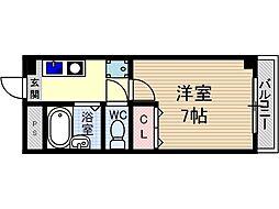 末広15番館[4階]の間取り