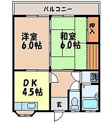 ハイツ原田[202号室]の間取り
