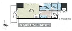 JR総武線 浅草橋駅 徒歩6分の賃貸マンション 8階1Kの間取り