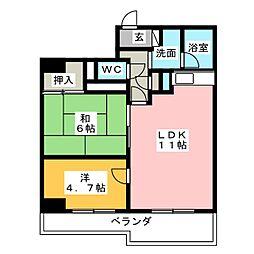 メゾンオーツー[8階]の間取り