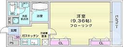 JR仙山線 東照宮駅 徒歩10分の賃貸マンション 2階1Kの間取り
