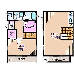 [テラスハウス] 神奈川県横浜市港北区富士塚1丁目 の賃貸【/】の間取り