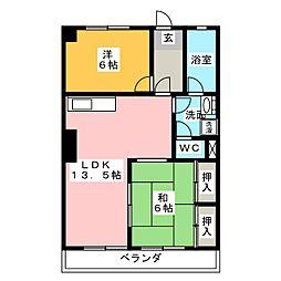 パールハイツ[6階]の間取り