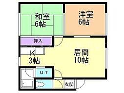 マンションサトウB[2階]の間取り