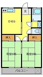 タウンハウス北野[2階]の間取り