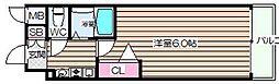 エスリード東梅田[6階]の間取り