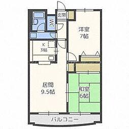 プレジデント32[2階]の間取り