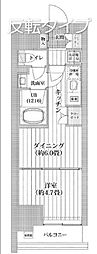 都営新宿線 菊川駅 徒歩11分の賃貸マンション 10階1DKの間取り
