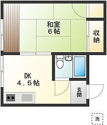 川島ハウス[1階]の間取り