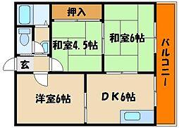 ハイツタケナカ[2階]の間取り