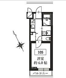 東急東横線 都立大学駅 徒歩5分の賃貸マンション 1階1Kの間取り