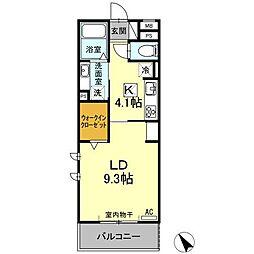 (仮)D−room刈谷市矢場町 B棟[207号室]の間取り