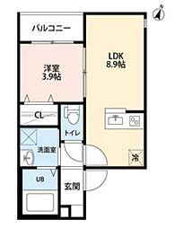サンライズK(サンライズケイ)[2階]の間取り