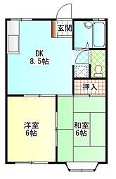 小嶋アパート[102号室]の間取り