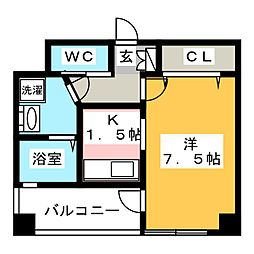 福岡県福岡市博多区神屋町の賃貸マンションの間取り