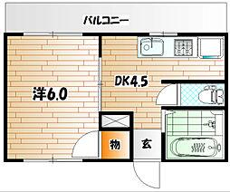 TANAKAハイツI[2階]の間取り